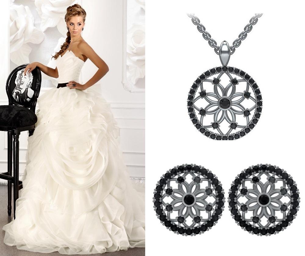 Коллекция «Чудесный день» с черными бриллиантами