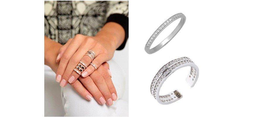 Серебряные фаланговые кольца