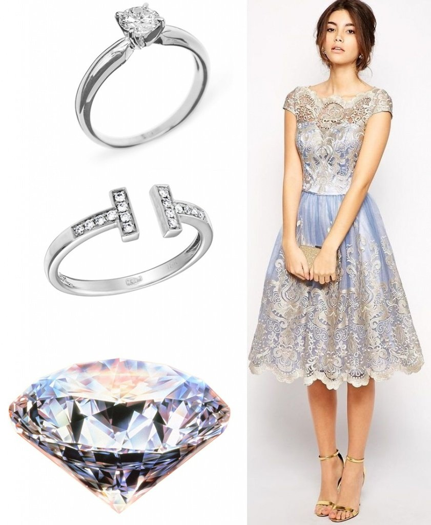 Кольца с бриллиантом