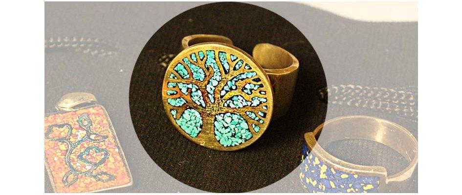 Кольцо с изображением дерева жизни