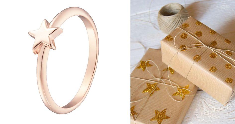 Кольцо из золота звездочка