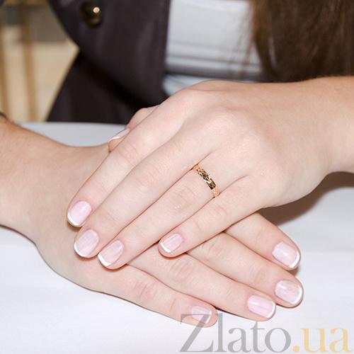 Купить Золотое обручальное кольцо Волшебный мир TRF--411161 в ... 56603f633a3