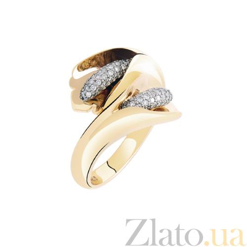 21d169729044 Купить Золотое кольцо с бриллиантами Каллы KBL--К1653 красн брил в ...