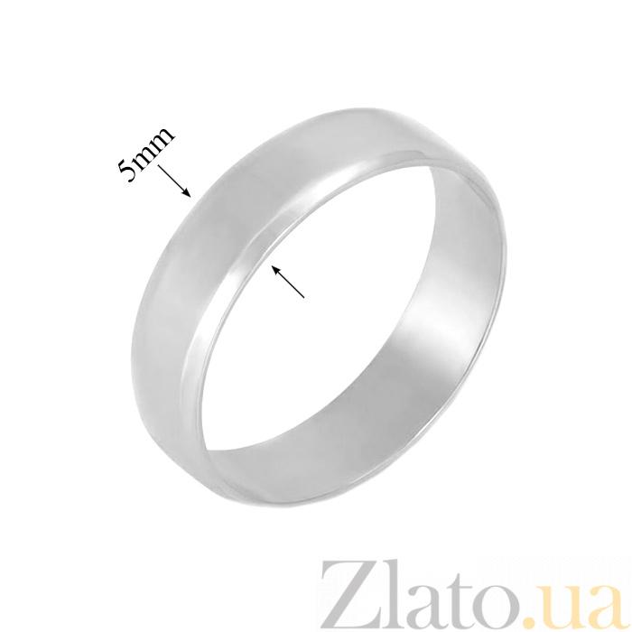 6b46e6404b3f ... Серебряное обручальное кольцо Классика любви с родиевым покрытием  000066483