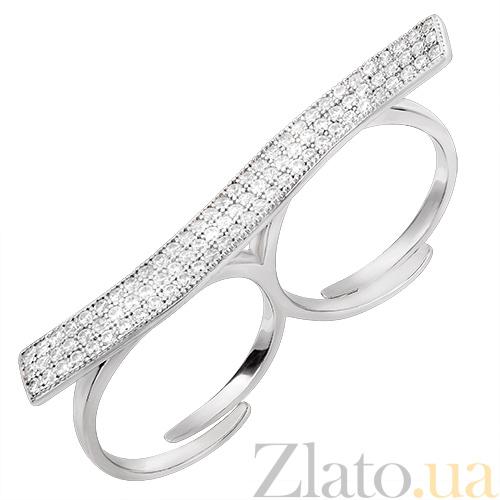7d190adf4c14 Купить Двойное серебряное кольцо Гламур 30327 в интернет магазине Злато