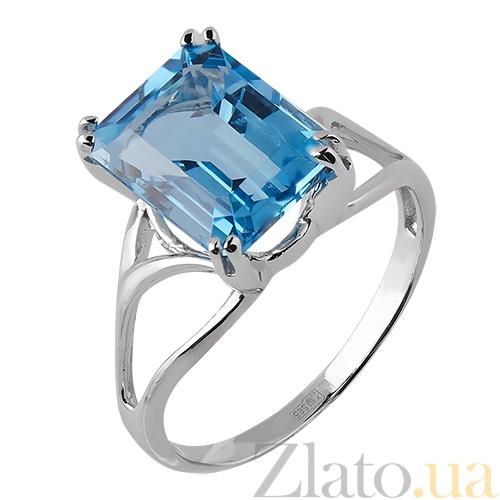 Кольцо с голубым топазом цена