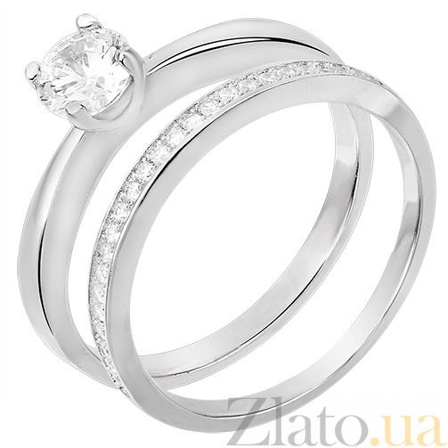 8b671ce6a476 Купить Двойное серебряное кольцо Мэриан 31121 в интернет магазине Злато