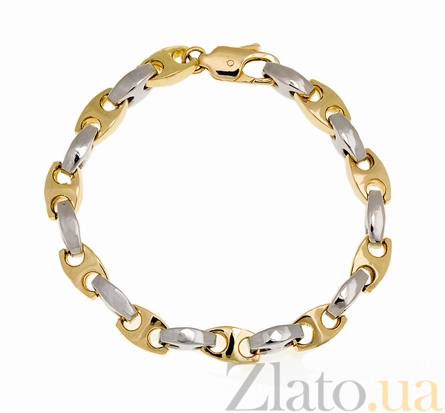 Купить мужской браслет из желтого и белого золота бастиан 000033537 ... ce4949572ce