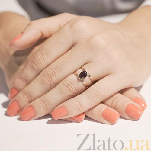 Золотое кольцо с гранатом цена