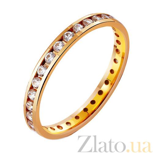 265200c6daf0 Золотое обручальное кольцо Классическая американка с фианитами TRF--412813