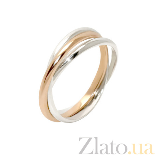 Купить Обручальное кольцо Тринити из золотого и серебряных колец BGS ... d519084239b