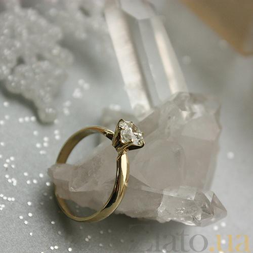 47fe515710c9 ... Золотое кольцо Афродита в желтом цвете с бриллиантом 000059362 ...