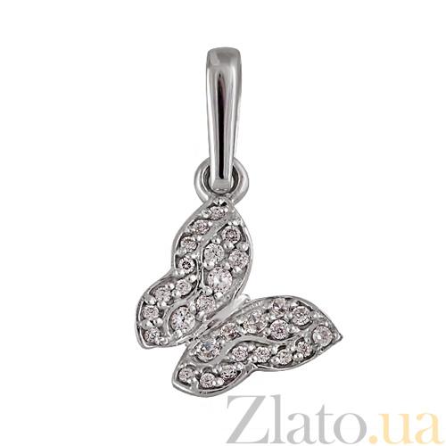 Купить Кулон из белого золота Парящая бабочка 000005119 в интернет ... a6039d5796e25