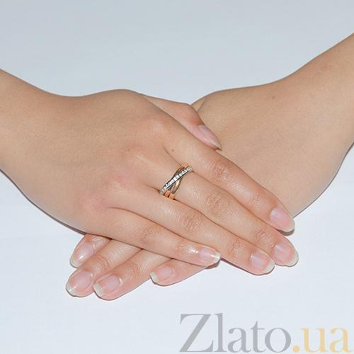 860a48a414d5 Купить Золотое обручальное кольцо с фианитами Тринити TRF--472807 в ...