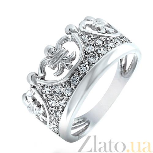 78e95ab039bf Купить Серебряное кольцо Корона 100331 в интернет магазине Злато
