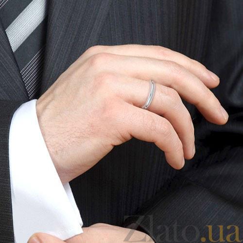 f03d52fd7be4 ... Мужское обручальное кольцо из белого золота Мой милый ангел   Безграничная Любовь 4123