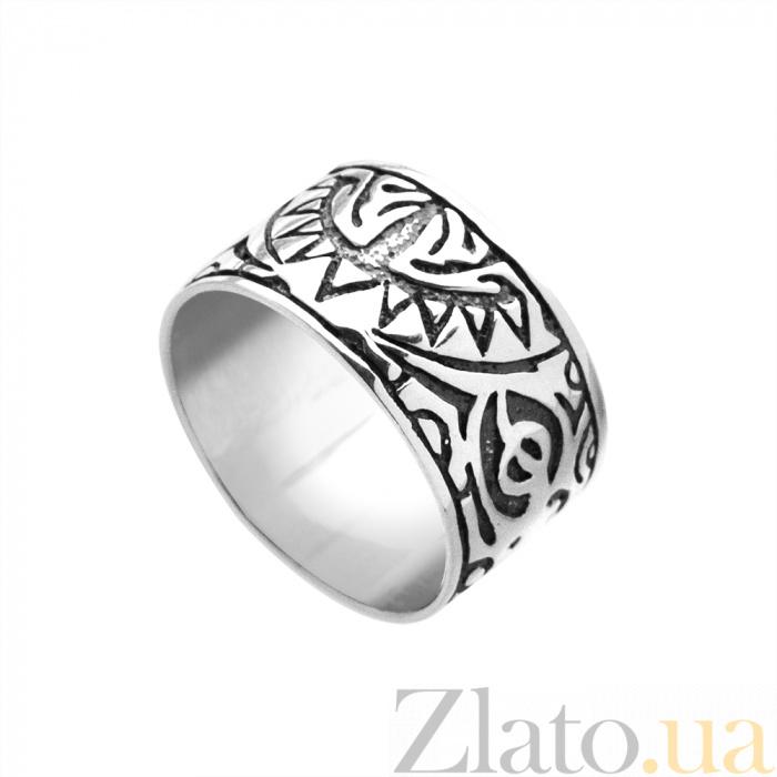 Купить серебряное кольцо маори с чернением и узорами на шинке ... fe5953c29526d