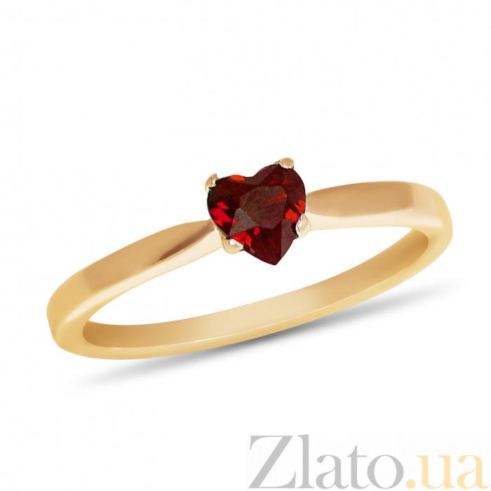 Купить золотое кольцо ясмин с сердцем в четырех крапанах и рубином ... cb1a238098ec9