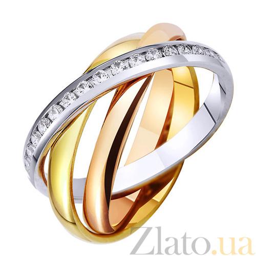 Купить Золотое обручальное кольцо с фианитами Тринити TRF--472807 в ... af3a062aa60