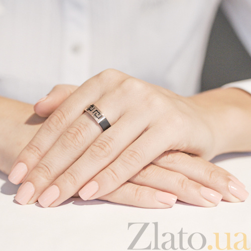 Купить Кольцо из каучука и серебра Калисто TNG--900619С в интернет ... 3631839bbcd9d