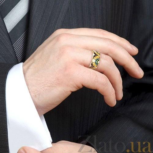 Мужское золотое обручальное кольцо