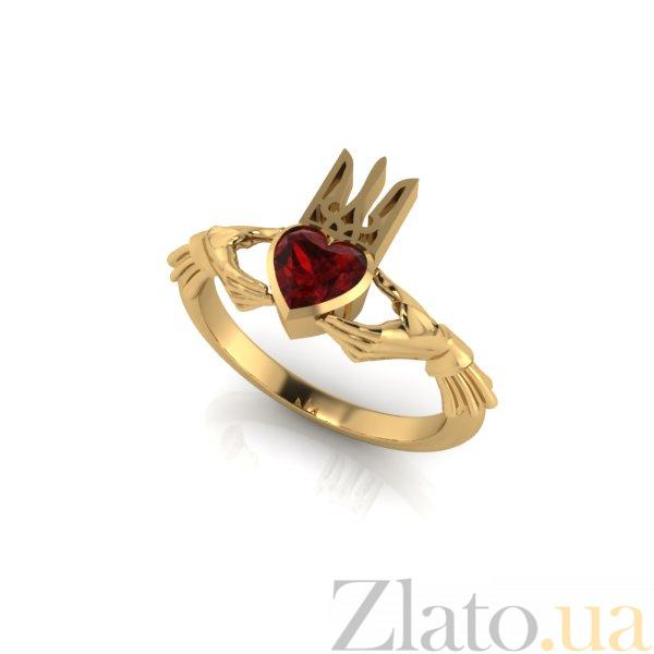 b20230d6241c Золотое кладдахское кольцо Украинский патриот с синтезированным рубином