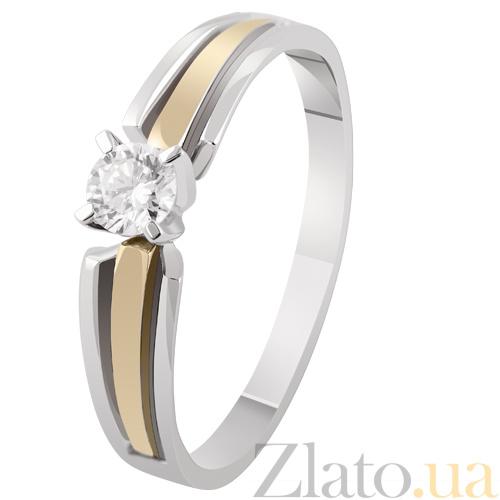 Купить Золотое кольцо с бриллиантом Маргарита KBL--К1928 комб брил в ... 518fbfbf82c