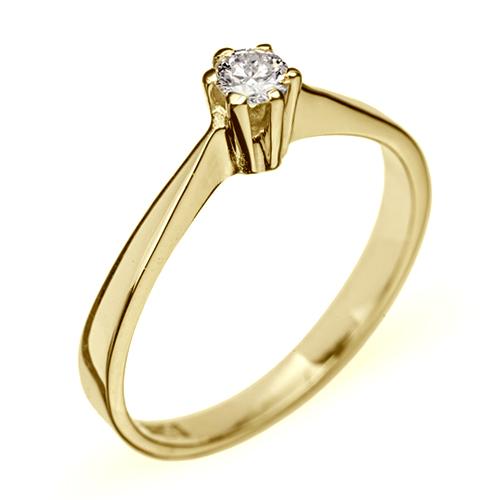 e556b06681c2 Купить Кольцо из желтого золота с бриллиантом Признание R0087 ...
