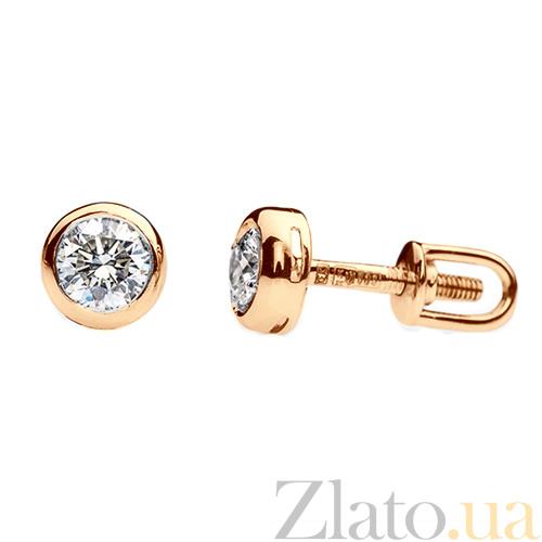 4760a4ee2e2e Купить Золотые серьги-пуссеты с бриллиантами Ванесса E0289 ...