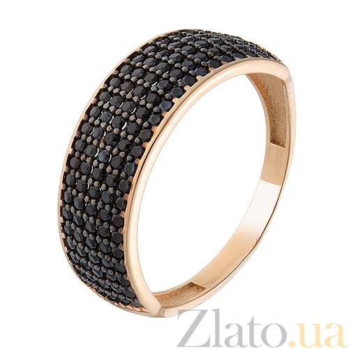 Купить Золотое кольцо с черным цирконием Гюзель SVA--1730971 Фианит ... 4f19285904c39