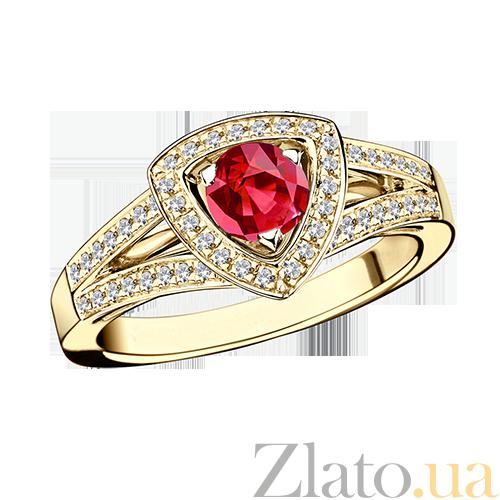 Купить Рубиновое кольцо в лимонном золоте с микро-паве Dream n Love ... 92c12d4141d