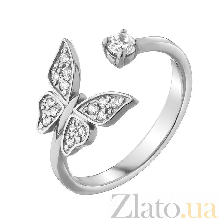 Купить серебряное кольцо порхающая бабочка с фианитами 000080031 в ... c3079b7afe3a8