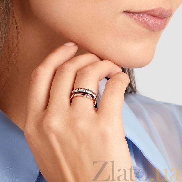 560e0842743c ... Обручальное кольцо Мелодия в комбинированном золоте с фианитами и  черной шпинелью в стиле Бушерон 000011711